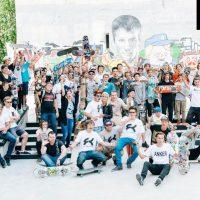 Команда FK-ramps на открытии скейт парка