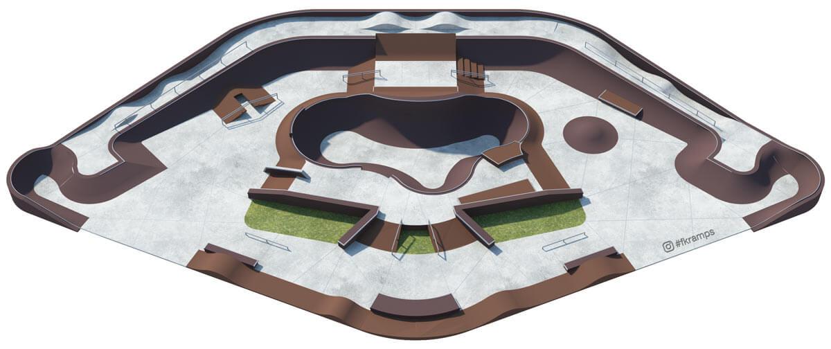 Делаем проекты скейт парков - FK-ramps