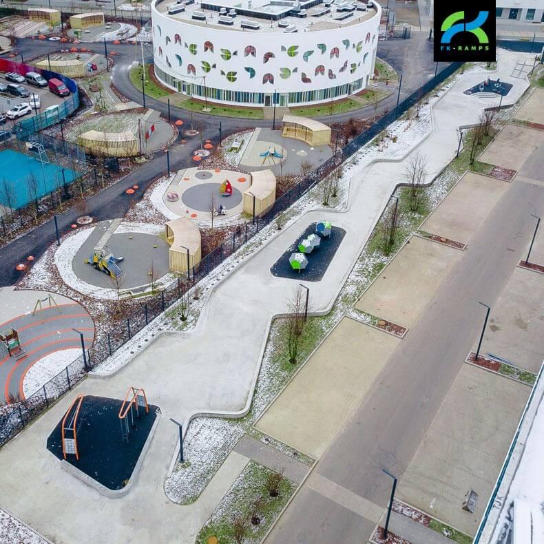 Проекты скейт парков для застройщиков от FK-ramps