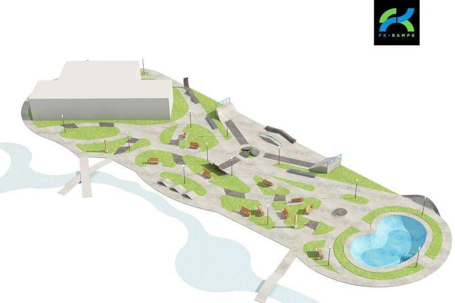 Благоустройство территории при создании скейт парка - FK-ramps