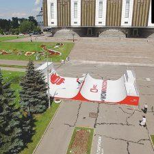 Деревянная рампа МТС в Парке Победы (Москва) - FK-Ramps