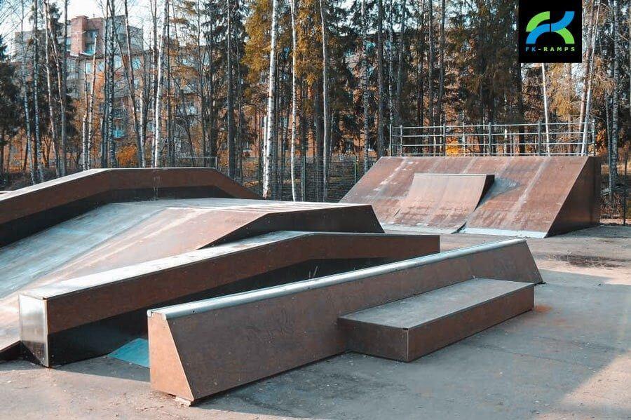 Деревянный скейт-парк Сертолово, Ленинградскаяобл.
