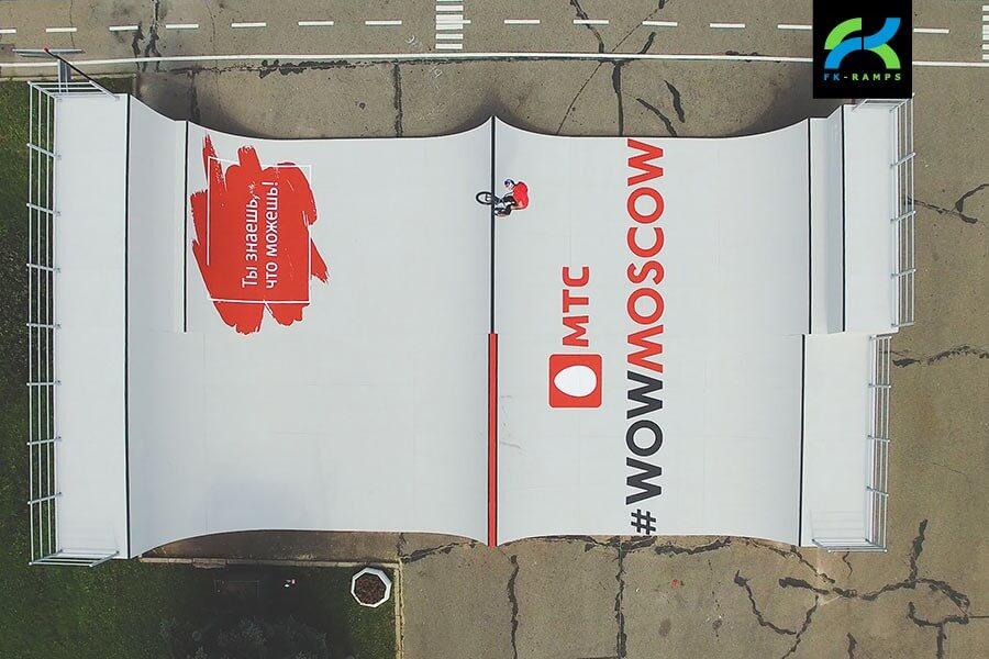 Деревянная рампа МТС, Парк Победы