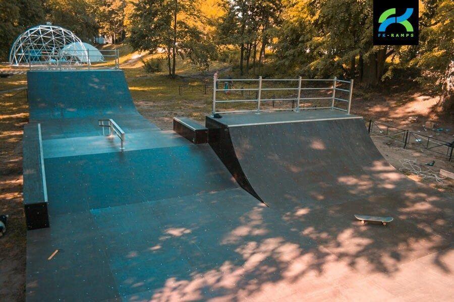 Деревянный скейт-парк в Выксе, Нижегородская обл.