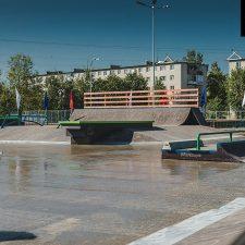 Деревянный скейт парк в Аннино от FK-ramps в Ленинградской области