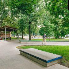 Бетонный скейт парк в Перово (Москва) - FK-ramps