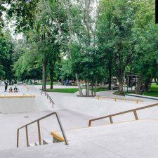 Бетонный скейт парк в Перово от FK-ramps