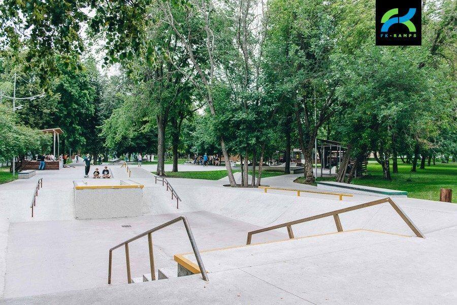 Бетонный скейт-парк Ferma в Перово