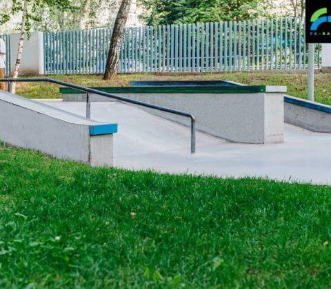 бетонный скейт парк в лианозовском парке