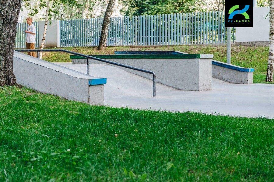 Бетонный скейт‑парк в Лианозовском парке