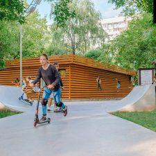 Фото скейт парка в Лианозовском парке в Москве - FK-ramps