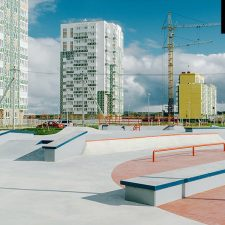 Бетонный скейт парк в Янино от FK-ramps