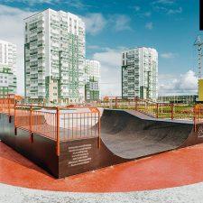 Фото скейт парка в Янино от FK-ramps