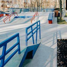 Бетонный скейт парк в Сходне от FK-ramps