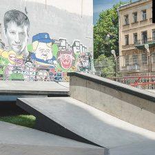 Бетонный скейт парк на Введенской улице (СПб) от FK-ramps