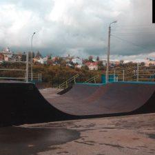 Деревянный скейт парк в Ельце от FK-ramps
