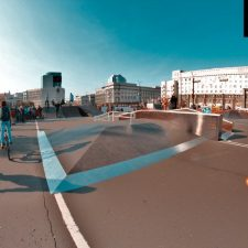 Скейт парк в Челябинске у памятника Курчатову от FK-ramps