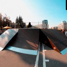 Скейт парк в Челябинске у памятника Курчатову (Лесопарковая улица) - FK-ramps