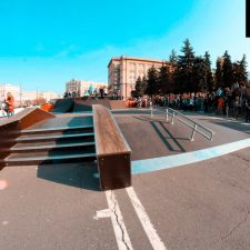 Скейт парк в Челябинске у памятника Курчатову (Лесопарковая улица) от FK-ramps