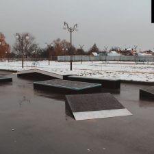 Деревянный скейт парк в Курганинске от FK-ramps