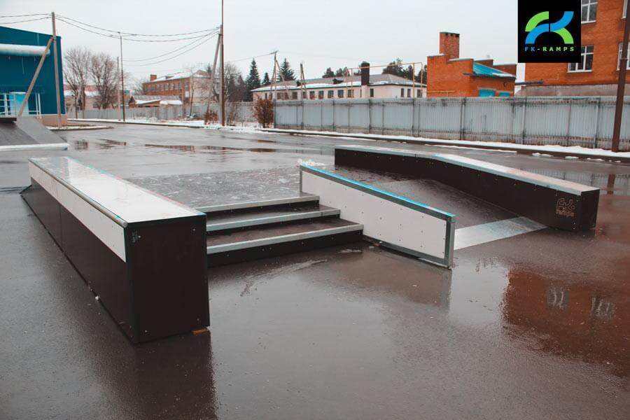 Деревянный скейт-парк в Курганинске