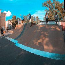 Деревянный скейт парк в Великом Новгороде - FK-ramps