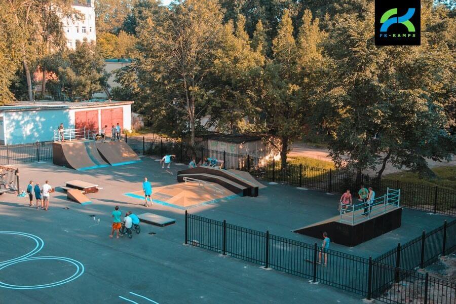 Деревянный скейт парк в Великом Новгороде