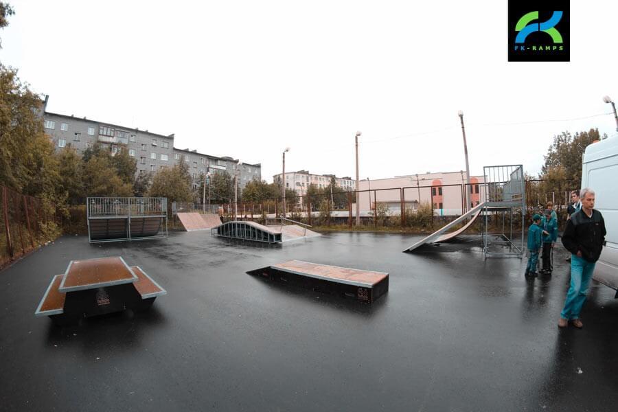 Металлический скейт-парк в Мурмашах