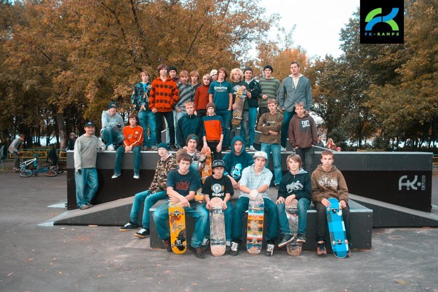 Деревянный скейт парк в Рыбинске