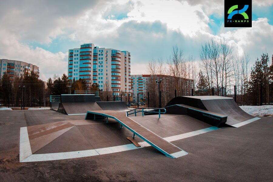 Скейт-парк в Сургуте, в Городском парке «Сайма»