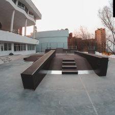 Скейт парк во Владивостоке во Дворце Пионеров от FK-ramps