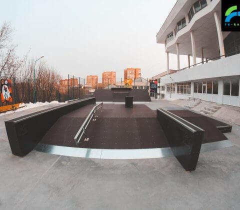 Скейт парк во Владивостоке во Дворце Пионеров - FK-ramps