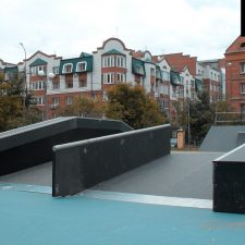 Скейт парк в Тюмени у Дворца искусств «Пионер» от FK-ramps