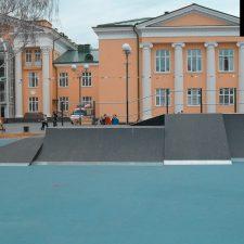 Деревянный скейт парк в Тюмени от FK-ramps