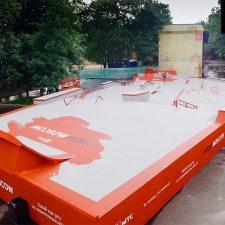 Деревянный скейт парк на ВДНХ от FK-ramps