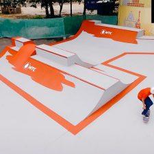 Фото: деревянный скейт парк на ВДНХ от FK-ramps