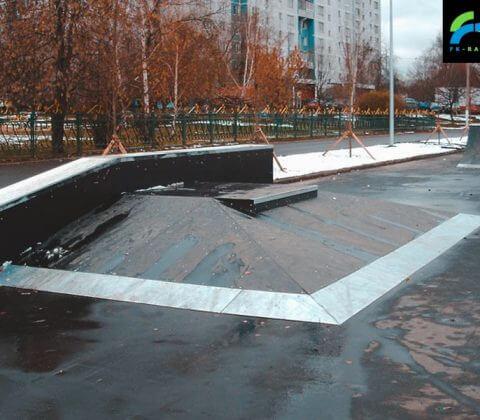 Скейт парк на Борисовских прудах, Москва - FK-ramps