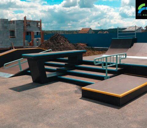 Скейт парк в Екатеринбурге, поселок «Алые Паруса» - FK-ramps