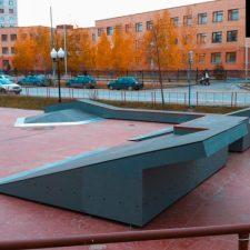 Деревянный скейт парк в Корабельном сквере - FK-ramps
