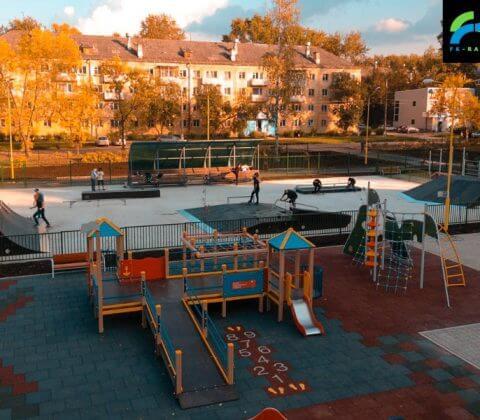 Скейт парк в Глазове (ул. Парковая) - FK-ramps
