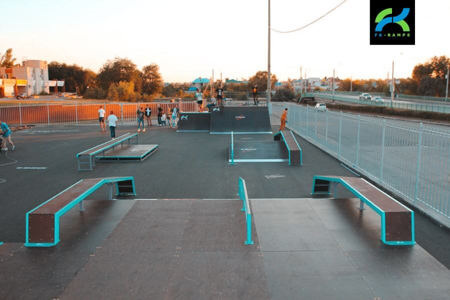 Металлический скейт-парк в Балаково