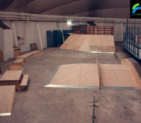 Крытый скейт парк в Туве - FK-ramps