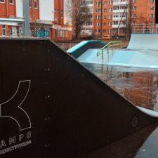 Деревянный скейт парк во Всеволожске от FK-ramps
