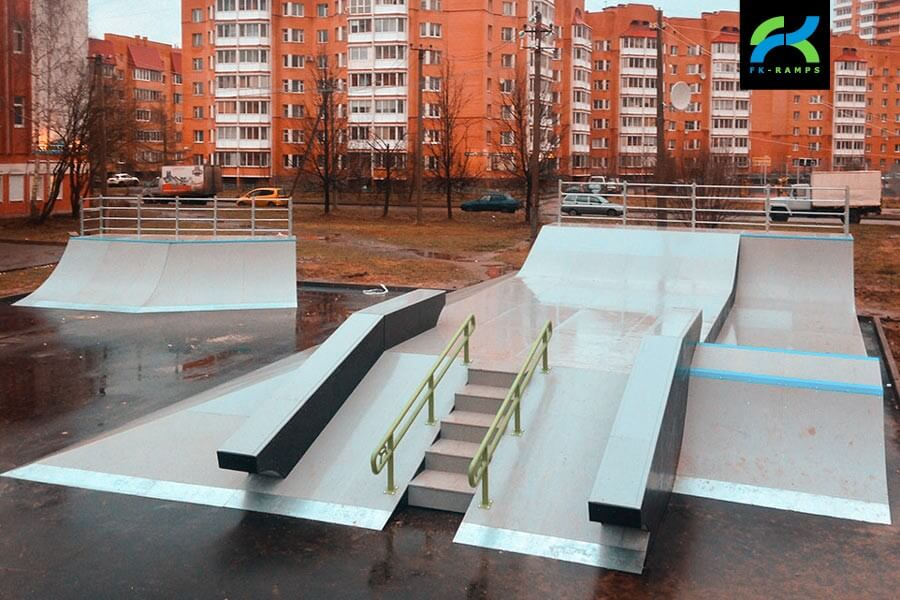 Деревянный скейт парк во Всеволожске