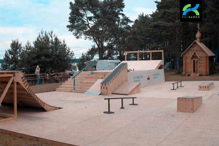 Деревянный скейт-парк на форуме Селигер
