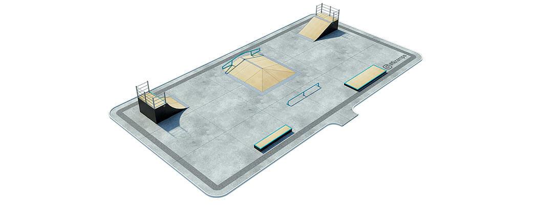 План деревянного скейт парка Д-01 от FK-ramps