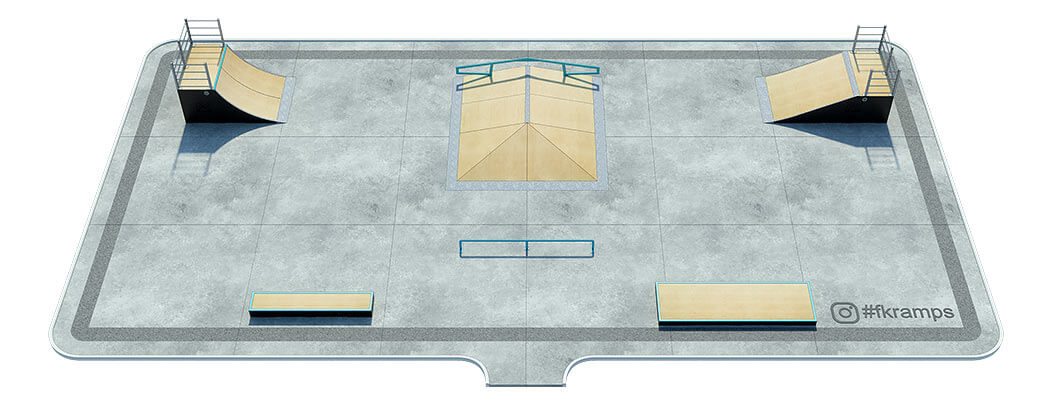 Проект деревянного скейт парка Д-01 от FK-ramps
