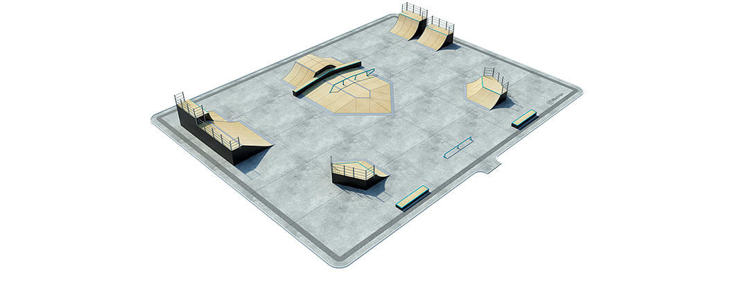 Макет деревянного скейт парка Д-10 от FK-ramps