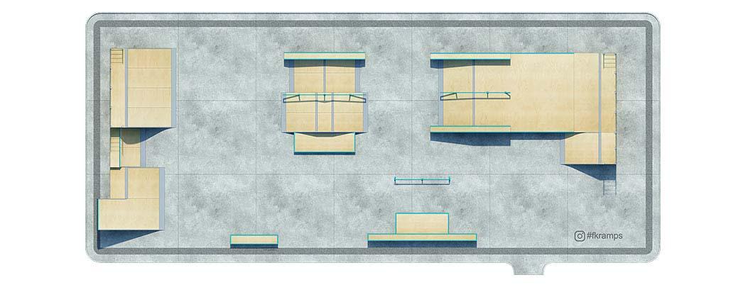 План деревянного скейт парка Д-11 - FK-ramps