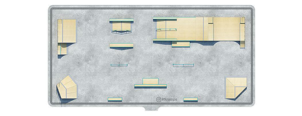 План деревянного скейт парка Д-12 - FK-ramps